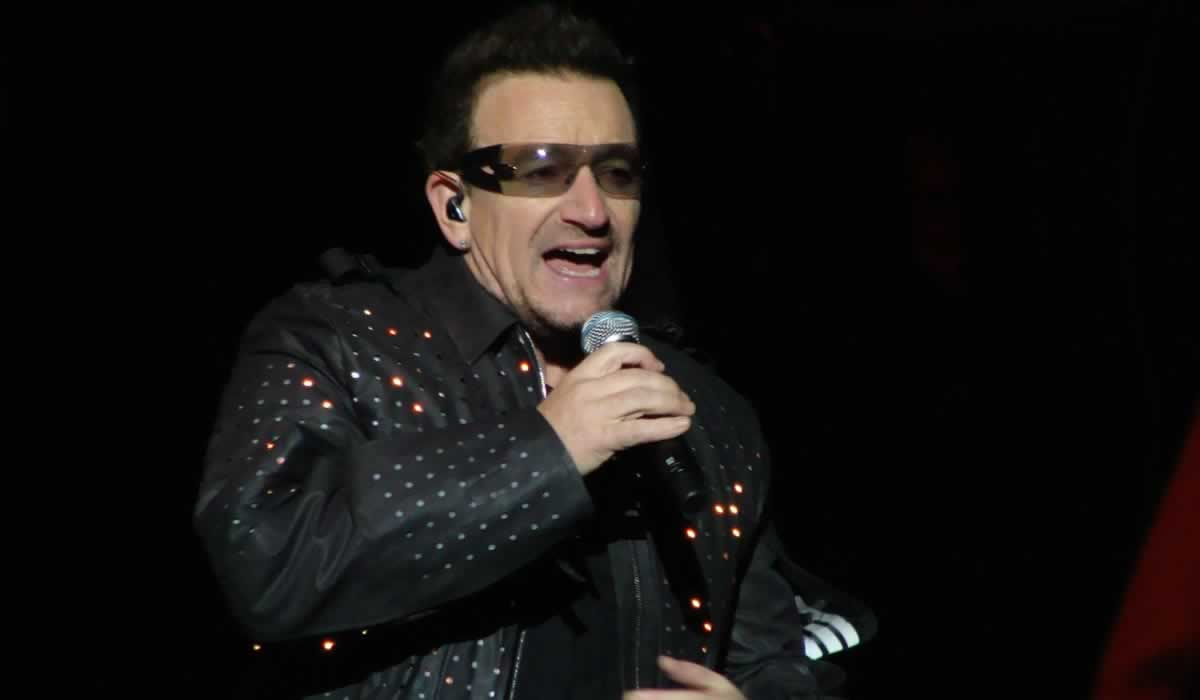 Bono, lead singer with U2