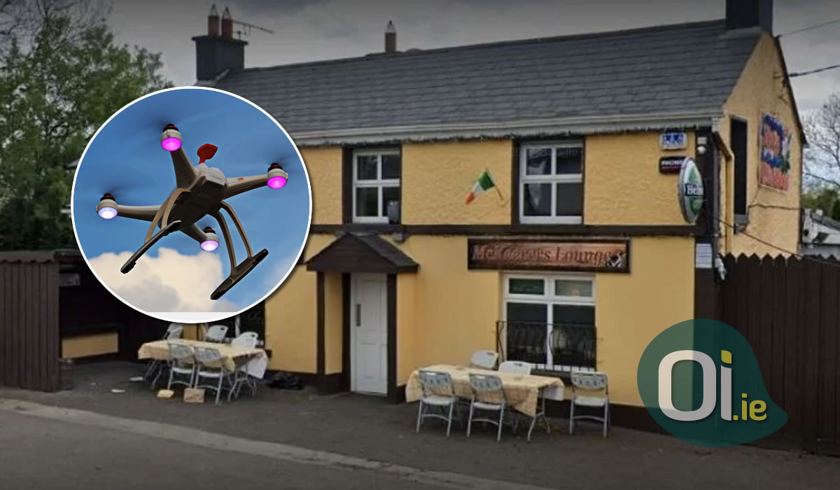 Pub uses drone to deliver beer during the pandemic
